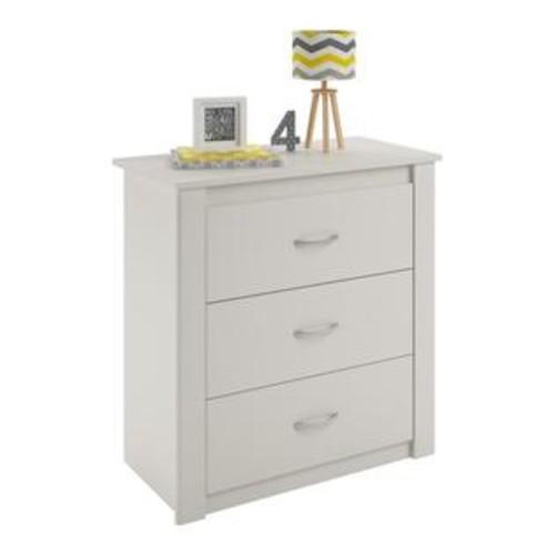 Ameriwood Home Riley 3 Drawer Dresser in White