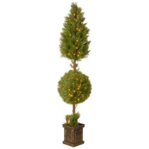 National Tree Company Pre-Lit 72-Inch Juniper Spiral Tree