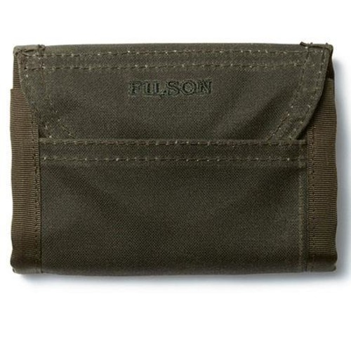 Filson Oil Tin Finish Tri-Fold Wallet, Otter Green 69150-OT