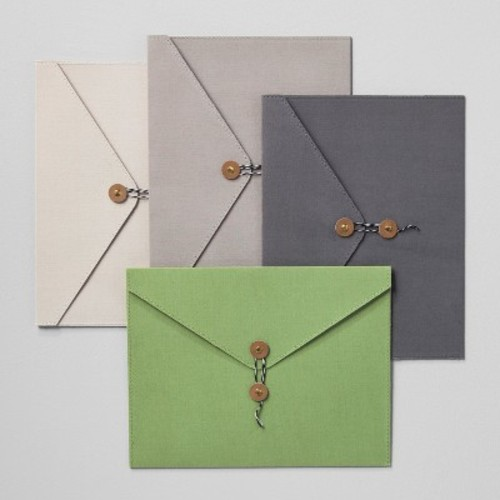Envelope Single Pocket Canvas/Paper Folders with Closure - Set of 4 - Hearth & Hand with Magnolia