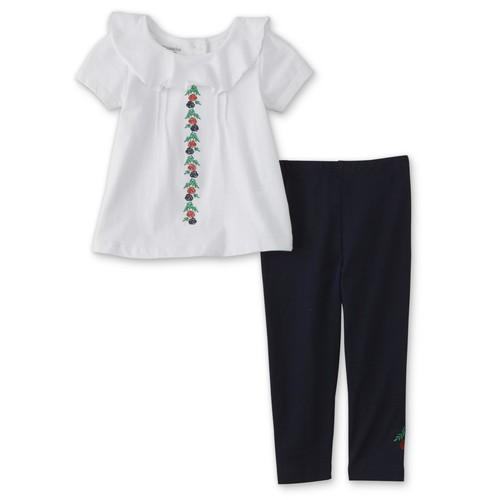 Toughskins Infant & Toddler Girls' Embellished Top & Leggings - Floral [Age : Infant]