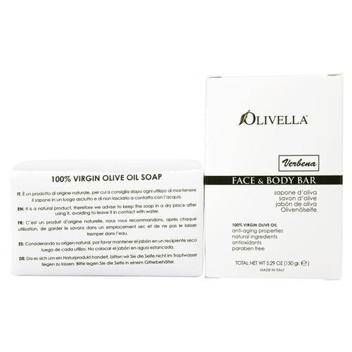 Olivella - Virgin Olive Oil Face & Body Bar Soap Verbena - 5.29 oz.