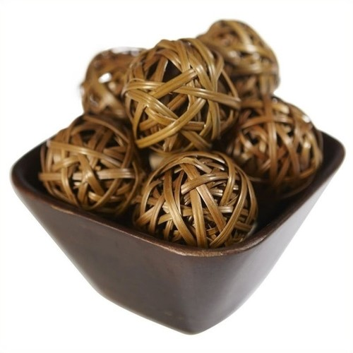 Nearly Natural Decorative Balls in Brown (Set of 12)