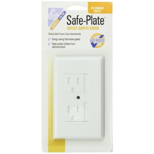 Mommys Helper Safe Plate Electrical Outlet Covers Standard, White [White]