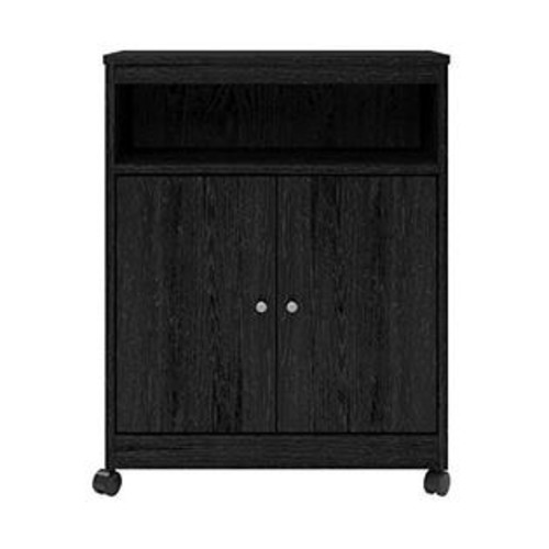 Altra Furniture Altra Landry Microwave Cart, Black Ebony Ash