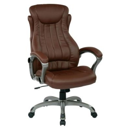 Work Smart Wine Eco Leather Executive Manager Office Chair