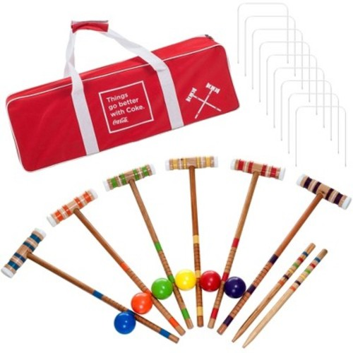 Coca Cola 24 Piece 6 Player Croquet Set - Complete Game