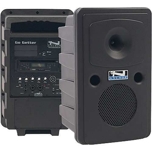GG-8000C Go Getter Portable Sound System with Bluetooth and CD/MP3 Combo Player