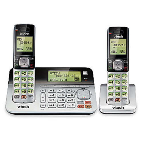 VTech CS6829-2 DECT 6.0 2-Handset Cordless Answering System with Caller ID/Call Waiting