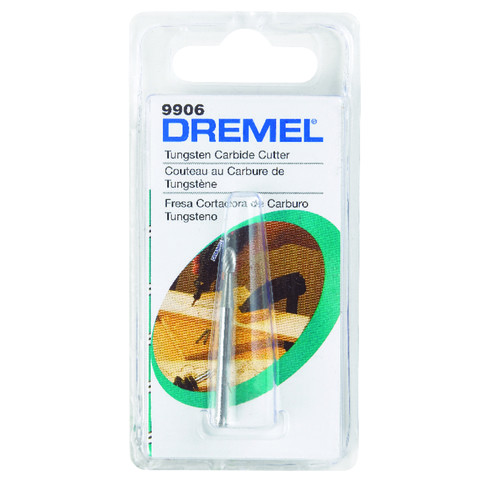 Dremel 1/8 in. Short Cylindrical Tip Tungsten Carbide Cutter for Steel, Iron, Ceramics, Plastics, and Hard Wood