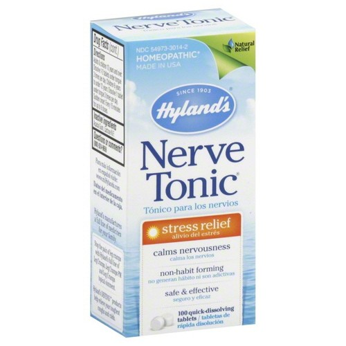 Hylands Nerve Tonic, Stress Relief, Quick-Dissolving Tablets, 100 tablets