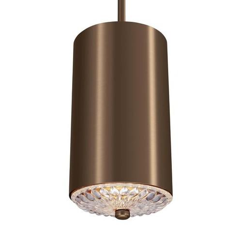 Feiss Mini 1-light Dark Aged Brass Pendant