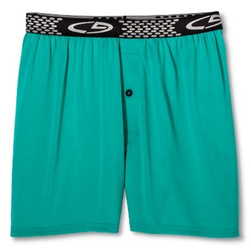 Men's Underwear Powercool Boxer Briefs - C9 Champion Green S