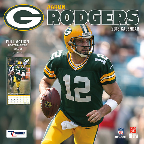 Turner 2018 NFL Green Bay Packers Aaron Rodgers Wall Calendar