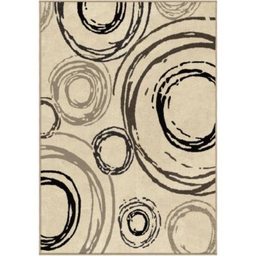 Carlile Beige 7 ft. 10 in. x 10 ft. 10 in. Indoor Area Rug