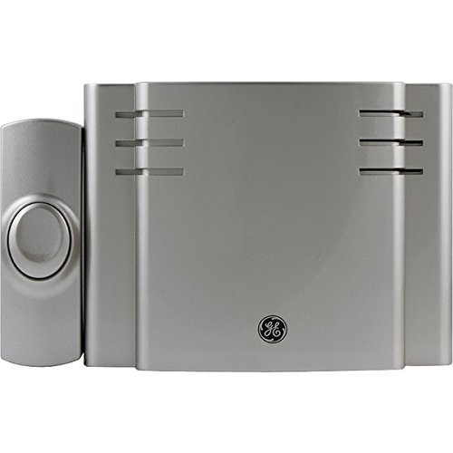 GE Battery-Operated Wireless Door Chime with 1 PushButton, Satin Nickel, 8 Melody, 19303: GE: Camera & Photo [Satin Nickel, 8 Melodies, Receiver + 1 Pushbutton]