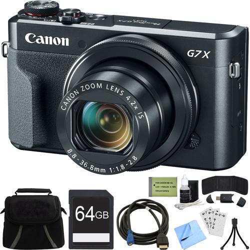 Canon PowerShot G7 X Mark II 20.1MP 4.2x Zoom Digital Camera w/ 64GB Accessory Bundle