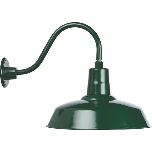 Strongway Multi-Mount Barn Light  16in. Dia., Forest Green, 200 Watts, Model# 23201091-GS