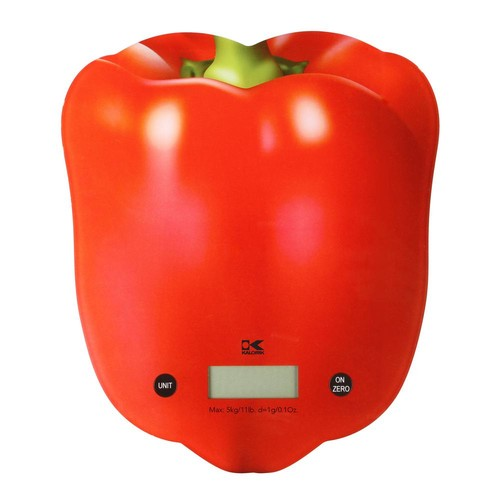 KALORIK Red Pepper Digital Kitchen Scale