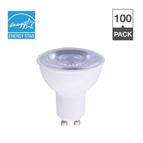Simply Conserve 50W Equivalent Soft White 2700K MR16 GU10 Dimmable 15,000-Hour LED Light Bulb (100-Pack)