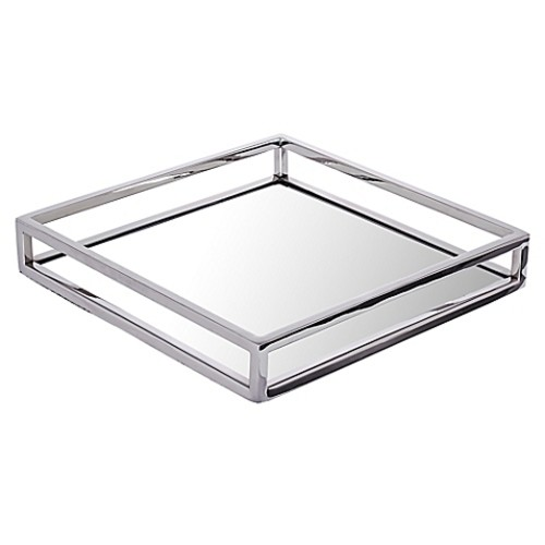 Classic Touch Large Mirrored Tray