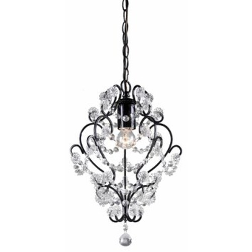 Sterling 122-005 Black Framed and Clearcrystal Mini Pendant Lamp