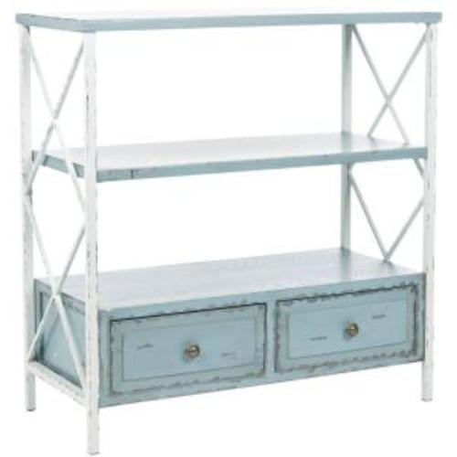 Safavieh Chandra Slate Green and White Smoke Storage Console Table