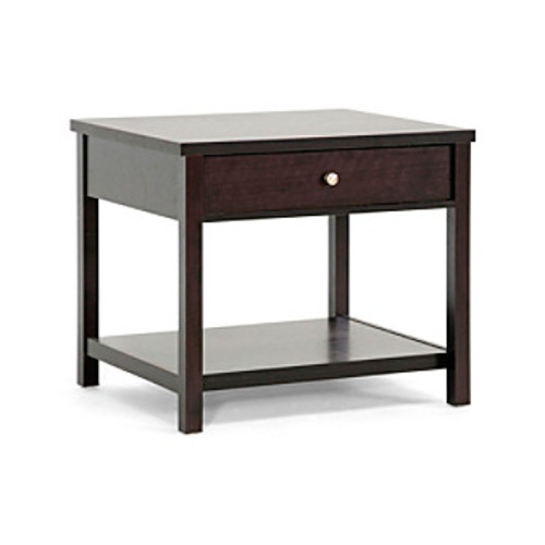 Baxton Studios Nashua Brown Modern Accent Table/Nightstand
