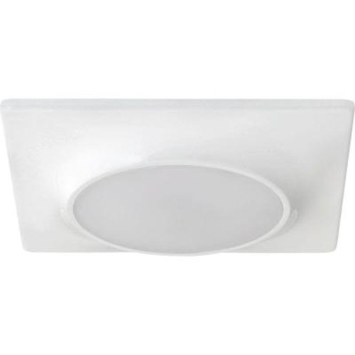 Progress Lighting 7-1/4 in. Square 1-Light White LED Surface and Recessed Mount Light