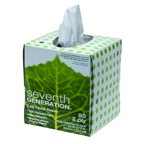 Seventh Generation Facial Tissues 2-Ply Cube (36x85 CT)