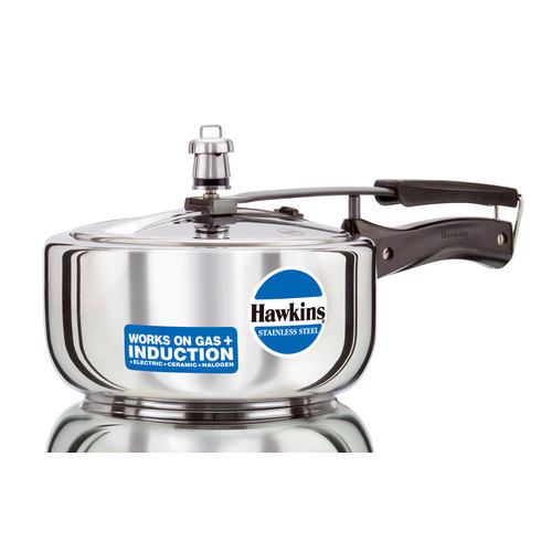 Hawkins - Stainless Steel Pressure Cooker - Size: 3.17 Quart - Multi