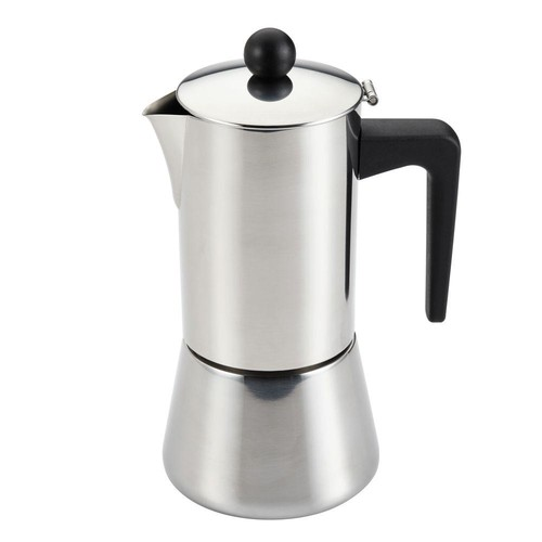 BonJour Stainless Steel 6-Cup Stovetop Espresso Maker