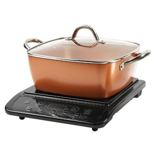 As Seen on TV Copper Chef XL Precision Induction Cooktop and 11