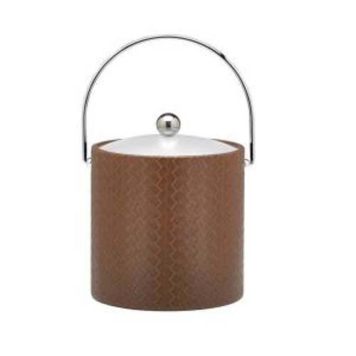Kraftware San Remo Pinecone 3 Qt. Ice Bucket with Bale Handle, Lucite Lid