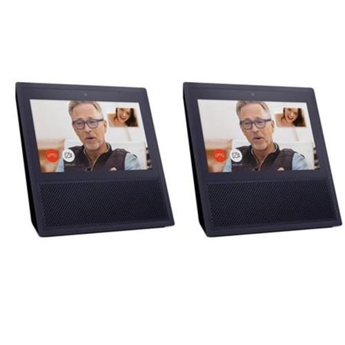 Amazon 2x Echo Show Voice Assistant Device, Black