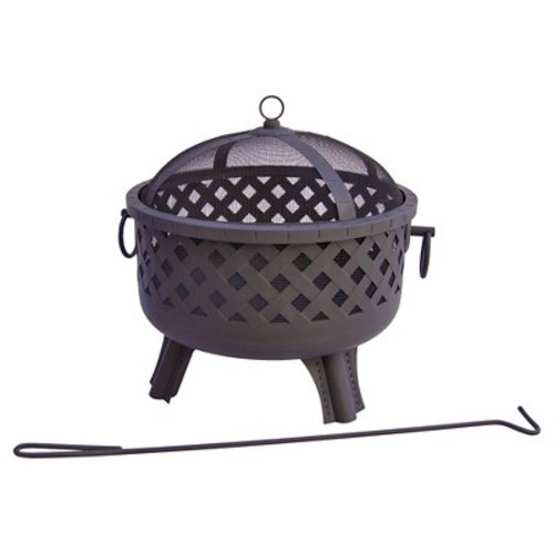 Landmann Baton Rouge Fire Pit Steel - Black