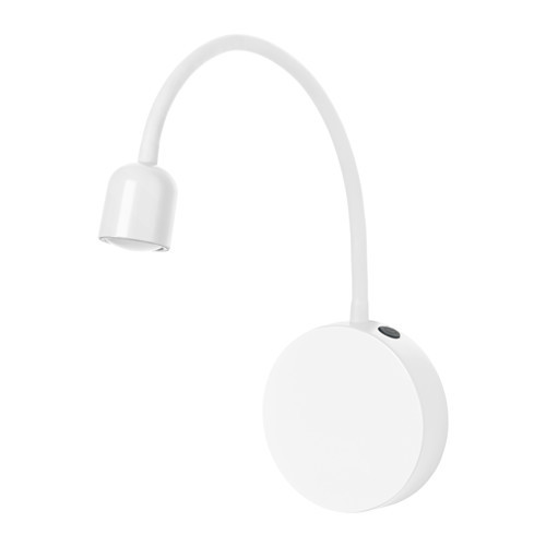 BLVIK LED wall lamp, battery operated white