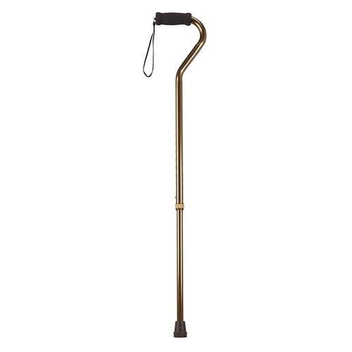 Drive Medical Foam Grip Offset Handle Walking Cane, Bronze