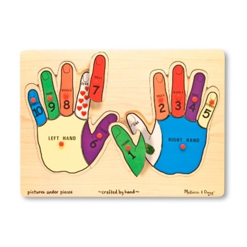 Melissa & Doug Hands Counting Wooden Peg Puzzle (12pc)