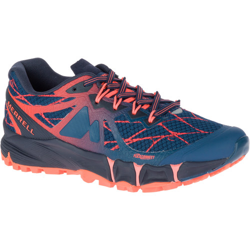 MERRELL Women's Agility Peak Flex Trail Running Shoes, Navy
