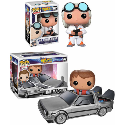 Back to the Future POP! Movie Vinyl Collectors Set: Doc Emmet Brown & Pop! Ride Delorean w/ Marty McFly