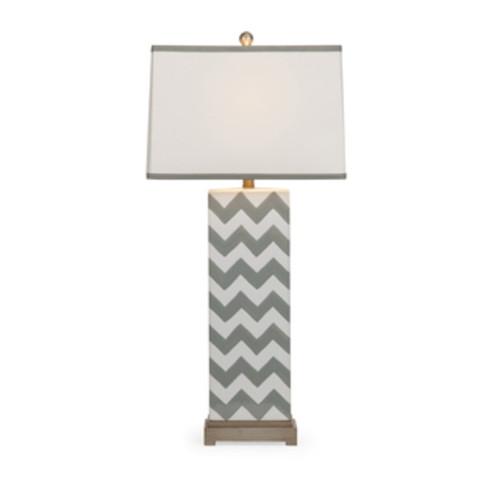 Safavieh Lighting 27-inch Grey Chevron Stripe Table Lamp (Set of 2) - LIT4136C-SET2