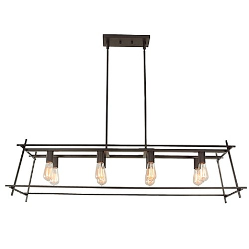 Varaluz Hashtag 8-Light Pendant Light in New Bronze