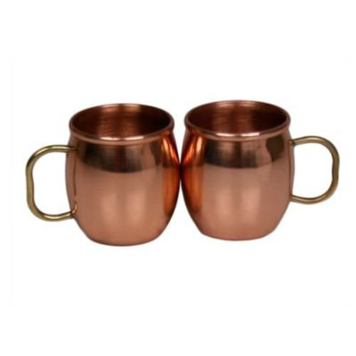 Jodhpuri Moscow Mule Mini Shot Mugs in Copper (Set of 2)