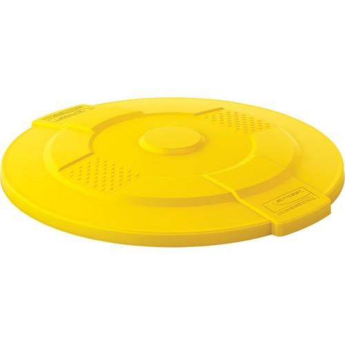 Suncast 55-Gallon Utility Trash Can Lid  Yellow,