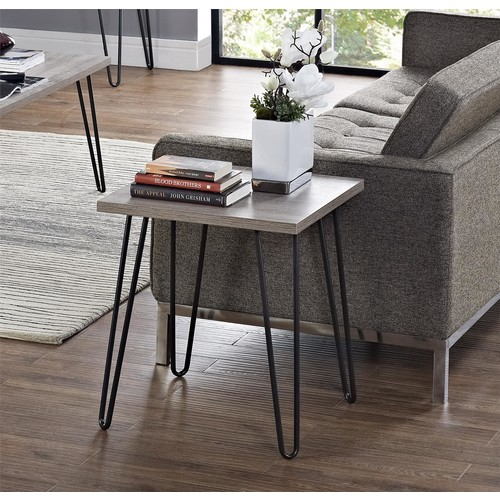 Ameriwood Home Owen Retro End Table - Oak/Gray