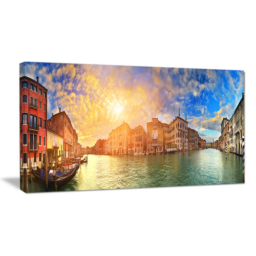 Grand Canal Venice Panorama - Cityscape Artwork Canvas