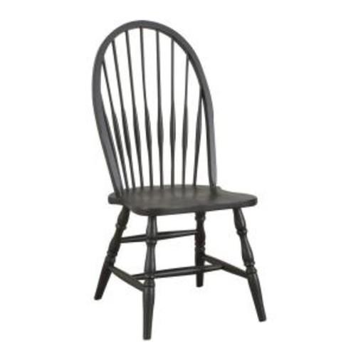 Carolina Cottage Black Wood Windsor Dining Chair
