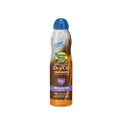 Banana Boat Tanning Oil, Dry, Clear Continuous Spray, SPF 15 6 fl oz (177 ml)