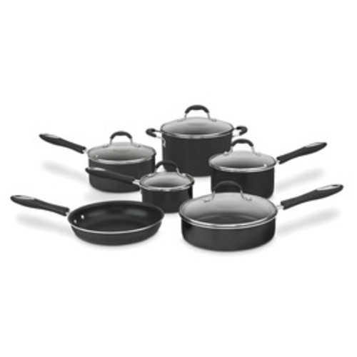 Cuisinart 11-Piece Advantage Aluminum Cookware Set with Lids